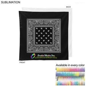 Paisley Bandana, 22x22, Sublimated